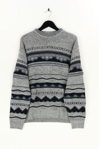 Carletti - rundhals-pullover aus woll-mix mit intarsia knit-muster - L