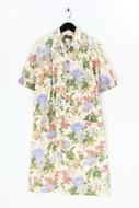 Sporting DRESS - baumwoll-hemd-kleid mit blumen-print - D 44