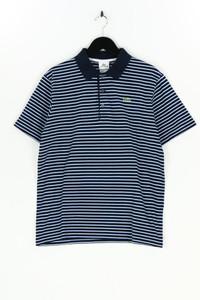 LACOSTE - polo-shirt mit streifen mit logo-applikation - M