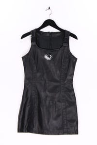 Clockhouse by C&A - 90s-faux leather-kleid - S